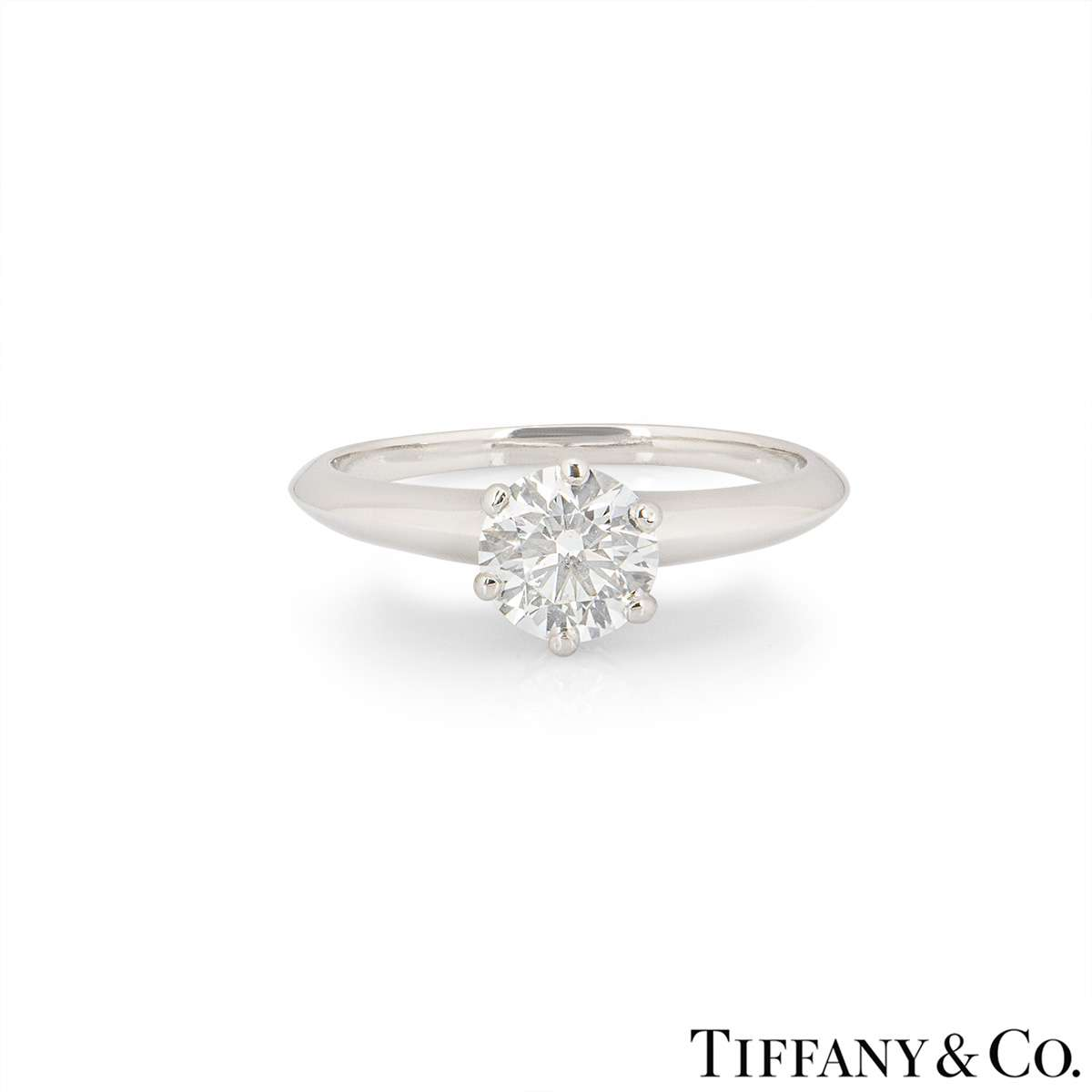 Tiffany & Co. Round Brilliant Cut Diamond Ring 1.05ct G/VS1